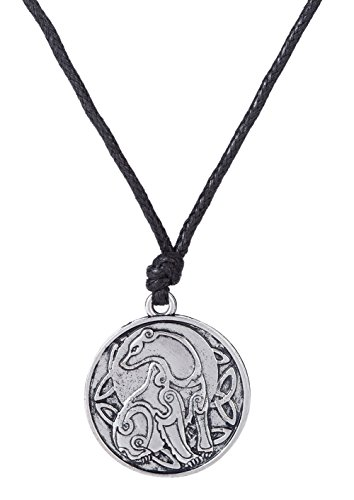 Dawapara Vintage Slavic Bear Totem Symbol Celtic Triquetra Knot Pendant Necklace Animal Jewelry