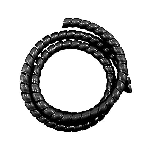 XIOFYA 1 UNID 8mm 2 m línea Organizador Protección de tubería Espiral Wrap Thirt Protector de Cable Tubo de Cubierta # 125 (Color : Negro)