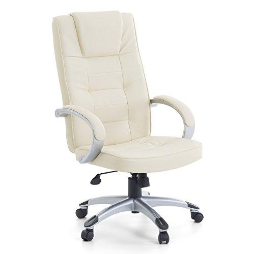 Leder Chefsessel Massagesessel'San Diego' Sessel mit Massage Farbe beige/cremefarben/elfenbein +...