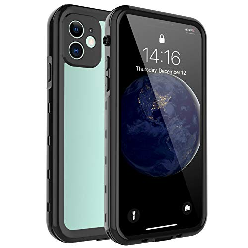 TOONE  iPhone 11 Waterproof Case, Clear Full Body Rugged Cell Phone Cases, Built in Screen Protector Shockproof Drop Protection Cover for iPhone 11 6.1 inch 2019 (Black)