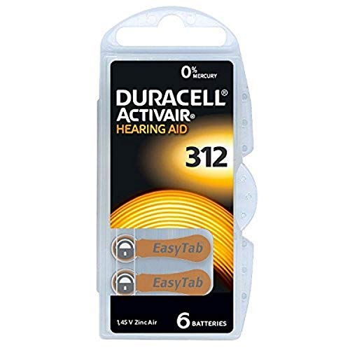 Duracell Hearing Aid Batteries Size 312, 60 Count (Pack of 1) batteries