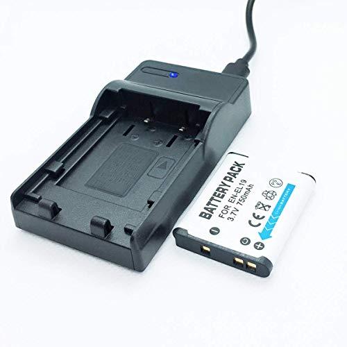 F-MINGNIAN-SPRING Cámaras Quick Battery Pack y Kit de Cargador de Viaje rápido USB de Repuesto Compatible con Nikon Coolpix A100, A300, S32, S33, S100 Accesorios para cámaras Digitales
