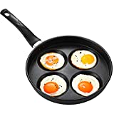 QQDL Sartén 4 moldes de Huevo Frito Huevos fritos moldes Anillos aptas para Todo Tipo de cocinas...