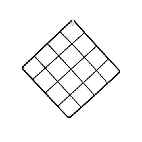 LIOOBO Rejilla Panel Foto Pantalla de Pared Malla metálica Decoración de Pared Alambre Rejilla para DIY Arte Foto Colgando Pantalla Organizador de Almacenamiento de Pared (Negro)