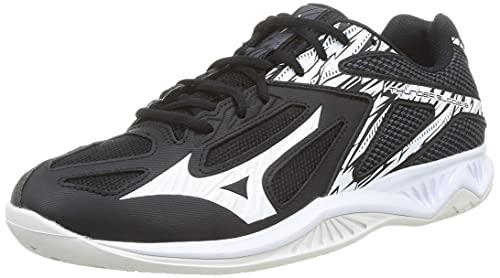Mizuno Thunder Blade 3, Zapatillas de vleibol Hombre, Negro Blanco Ébano, 42 EU