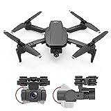 Mini dron Plegable con cámara 4K HD FPV WiFi RC Quadcopter, Control de Gestos, Vuelo de trayectoria, Vuelo Circular, rotación de Alta Velocidad, Volteretas 3D, Sensor G, Modo sin Cabeza, para Adultos