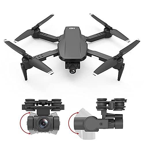 Drone con cámara Mini Drone Plegable con cámara 4K HD FPV WiFi RC Quadcopter, Control de Gestos, trayectoria de Vuelo, Vuelo Circular, rotación de Alta Velocidad, Volteretas 3D, Sensor G, Modo