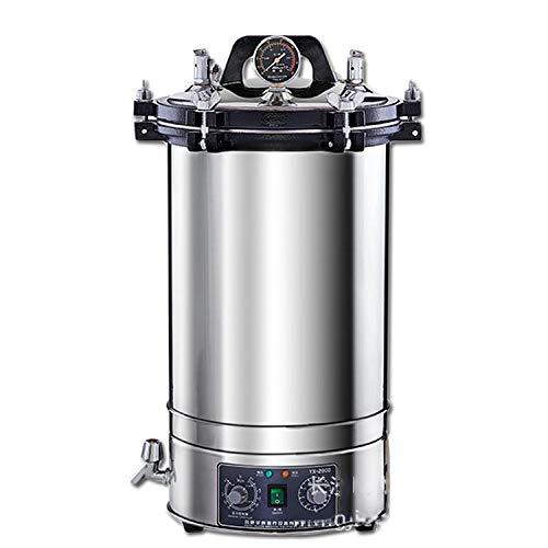 CGOLDENWALL Selbstgesteuertes Autoclave Edelstahl-Dampfsterilisator Hochdrucksteriilisationsgerät Dampfsterilisiergerät 0,165 MPa 129 °C max, 18L, 1