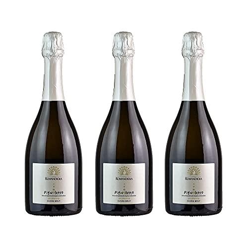 Tris Tre Bottiglie di Romandiola Spumante Pignoletto Brut