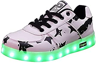 2019 Men Women LED Sneakers The American Flag Growing Shoes USB Charge Casual LED Sneakers