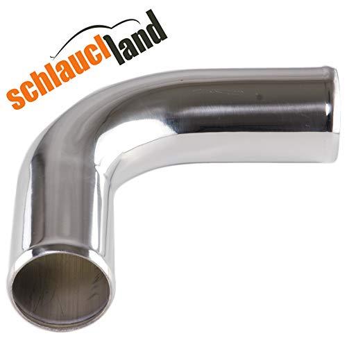 Schlauchland Alu-Bogen 90° AD 30mm ***** Alubogen, Alurohr, Rohrbogen, Pipe, Turbo, Ladeluftkühler