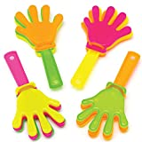 Baker Ross- Minicarracas de manos (Pack de 8) Carracas de plástico perfectas para bolsas de regalo para niños, fiestas de Halloween, rellenos de piñata o regalos de cumpleaños
