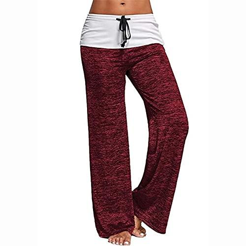 Costura Yoga Pantalones Deportivos de Secado rápido Ocio Urbano Ocio al Aire Libre Pantalones Anchos