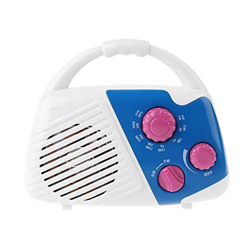 ZURITI Wasserdichtes AM FM Radio, Dusche AM FM Button Lautsprecher, Wasserdichtes AM FM Radio Duschradio mit Lautsprecher mit oberem Griff, Geeignet für Badezimmer, Schwimmbäder und Umkleidekabinen C