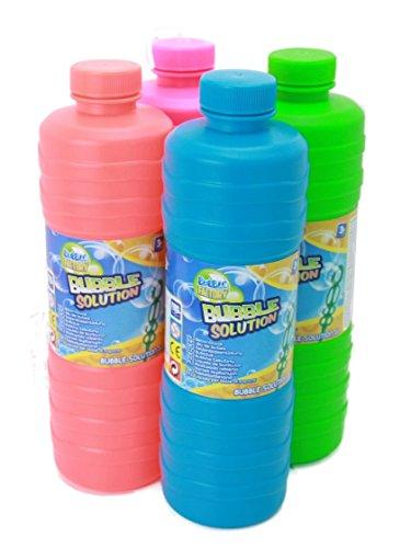 Bubble Solution Seifenblasen 1Liter Seifenblasenflüssigkeit Nachfüller ideal für Seifenblasenlösung Pistolen Stäbe Seifen Blasen Lauge