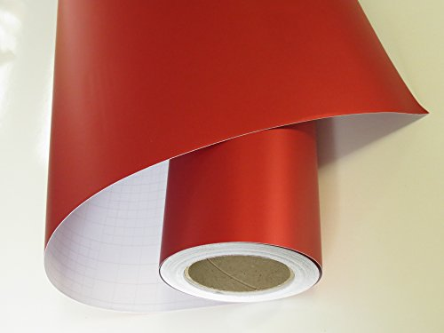 Könighaus (15,13€/m2) Ice Crust Rot Autofolie 100 x 152 cm blasenfrei mit Anleitung