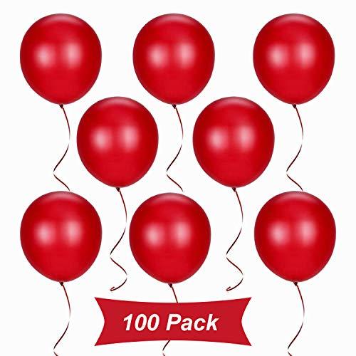 Gxhong 100 Pezzi Palloncini Rosso, Palloncini in Lattice da 12 Pollici per Elio, Palloncini per Laurea Palloncini per Matrimonio per Decorazioni Natalizie Decorazioni per Feste (Rosso)