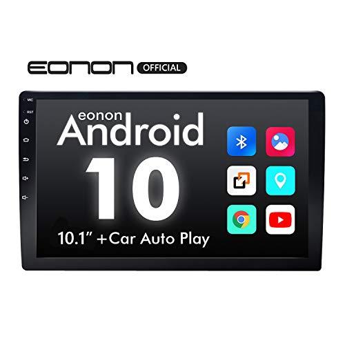 "eonon GA2188 Android 10 Car Stereos 2Din 10.1"" HD Touchscreen GPS Sat Nav Cortex A35 Quad-Core 2GB RAM 16GB ROM Built-in Bluetooth WiFi RDS FM Am Support Video Output (NO DVD)"