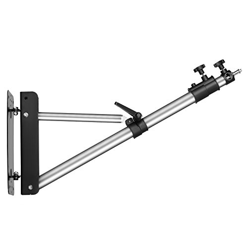 "Neewer Max Height 49""/125cm Wall Mounting Boom Arm for Photography Studio Video Lights, Monolights, Umbrellas, Reflectors"