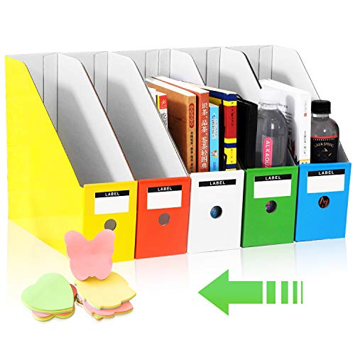 HINATAA File Magazine Holder, Multi-Color File Holder Ultra-Modern Simple Style Storage Organizer Sorter Storage Shelf Excellent for School Dormitory,Office,Home Files Storage