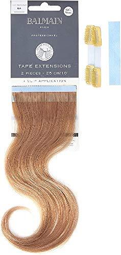 Balmain Lot de 2 extensions de cheveux humains - Longueur 25 cm - 8A - Blond cendré naturel - 22 g