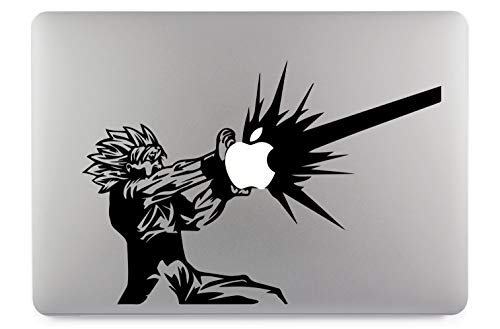 Son Goku Calcomanía Grande Calcomanía de Piel Calcomanía de Vinilo Adecuado para computadoras portátiles Apple MacBook Air Pro Computadoras portátiles, Autos, Superficies Lisas (13