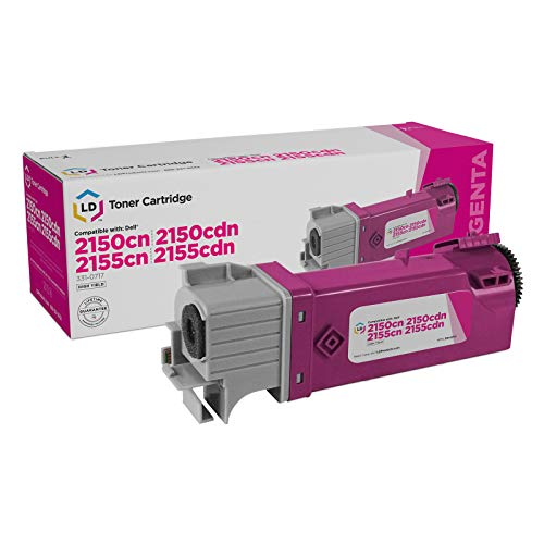 LD Compatible Toner Cartridge Replacements for Dell 331-0717 2Y3CM High Yield (Magenta)