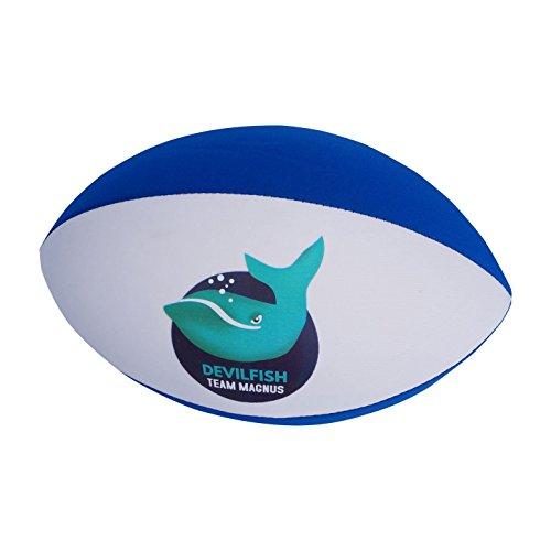TEAM MAGNUS Neopren Rugbyball (Blau/Weiss)