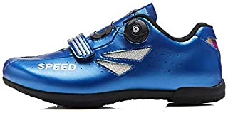 OneChange Road Cycling Shoes for Women Men, Unisex Mountain Bike Bicycle Trainers MTB Shoes Flat without Cleats (Color : Blue, Size : 12 UK)