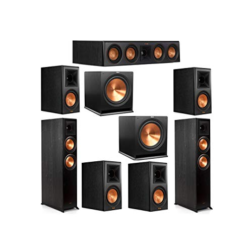Great Features Of Klipsch 7.2 System with 2 RP-6000F Floorstanding Speakers, 1 Klipsch RP-404C Cente...