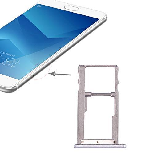 GGAOXINGGAO Pieza de reemplazo del teléfono móvil Bandeja de Tarjeta SIM for Meizu M5 Note Piezas de Repuesto de teléfono (Color : Silver)