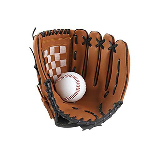 Dyda6 - Guantes de béisbol (Piel sintética, para Zurdos, Guantes de béisbol), Color marrón, Color Show, tamaño 11,5'