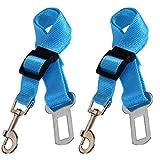 1 cinturón de seguridad ajustable para el coche para mascotas perros gatos universal mascotas cinturón de seguridad para vehículo auto cinturón de seguridad hebilla premium nylon cables de seguridad