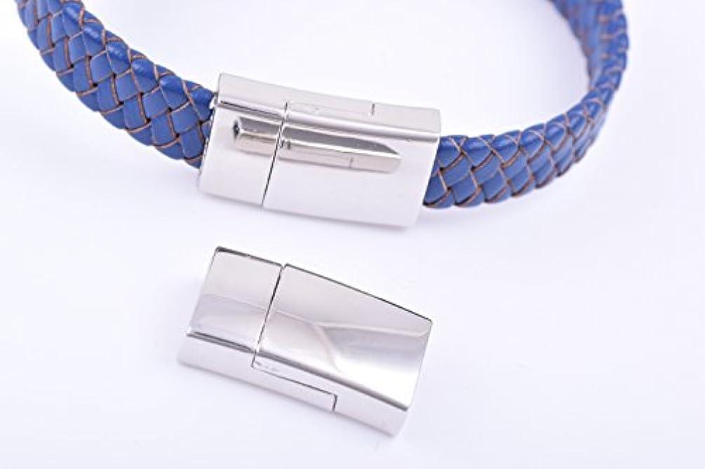 KONMAY 20 Sets Bulk Magnetic Jewelry Clasps Rectangle Shaped, Shiny Rhodium, 11.0x3.0mm