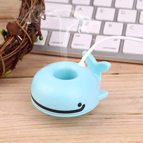 Barukra Umidificatore a Forma di Balena Carino Professionale Mini purificatore d'Aria Diffusore USB Portatile Purificatore Universale per Ufficio Domestico