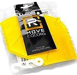 Rmove 10 pezzi di mascherine FFP2 colorate + gancio Certificate CE mascherine ffp2 colorate adulti (GIALLO)