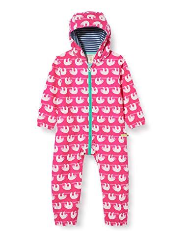 loud + proud Baby-Mädchen Outdoor Overall Organic Cotton Strampler, Rosa (Azalea Aza), (Herstellergröße: 74/80)