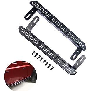 ZuoLan 1 Pair Metal Side Pedal Board for 1/10 Scale RC Crawler Car 1/10 RC Crawler Traxxas TRX-4 Trx4 Upgrade Parts:Delocitypvp