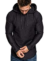 Cot-Oath Men's Fashion Athletic Hoodies Gym Running Sweatshirt Outdoor Sports Fleece Pullover Workout Long Slevee Shirts Black