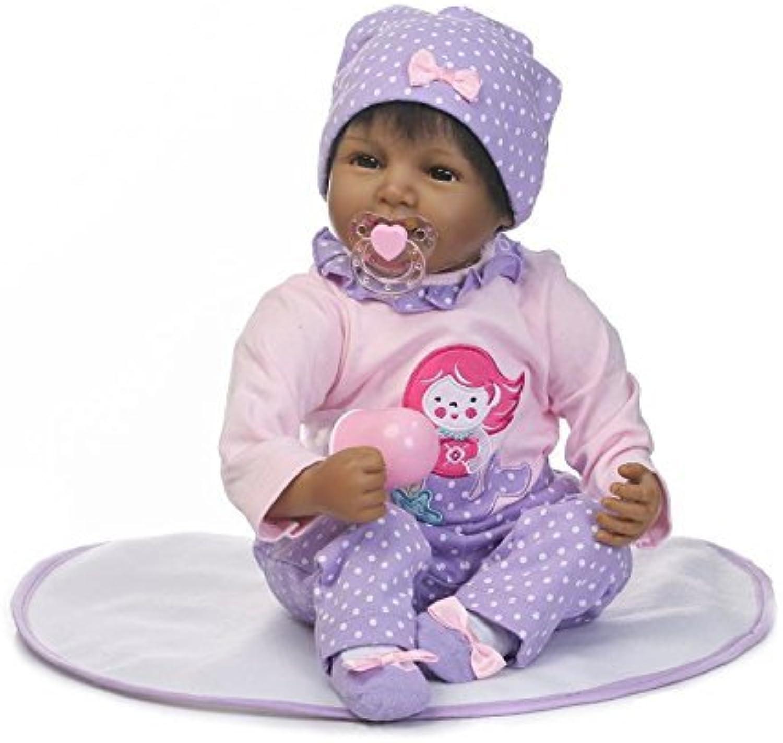 XL68chao 22 '' Handmade Dolls Reborn Babies Realistische Bonecas Reborn-Puppen aus Silikon mit verwurzeltem Haar Baby Girl Kindergeschenkspielzeug für Kinder