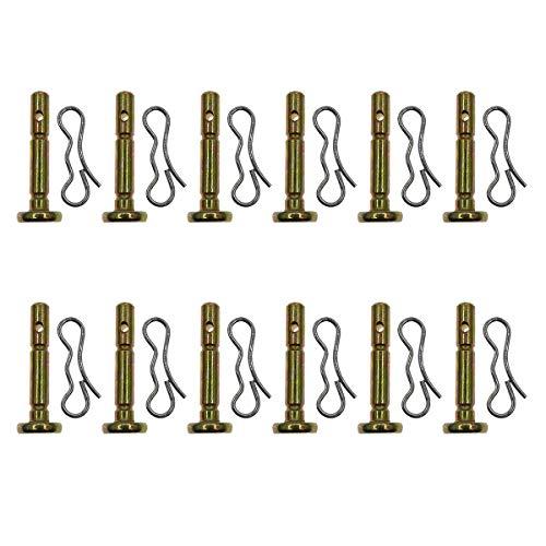 12 Packung Ersatz für Scherbolzen und Splint für MTD 738-04155 CUB & Troy-bilt Schneewerfer Länge 4,80cm