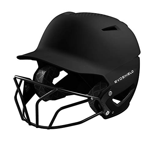 EvoShield XVT Batting Helmet with Facemask (Matte Finish), Black - Large X-Large