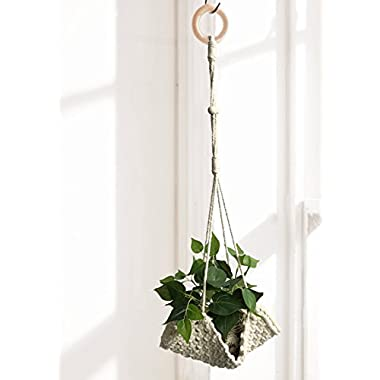 Macrame Plant Hanger Handmade Cotton Rope Wall Hangings Home Decor,30 L