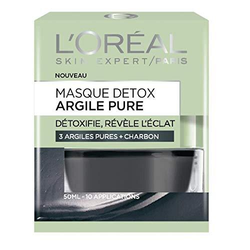 L'ORÉAL - Expertise Masque Visage Eclat Argile Pure 50Ml - Lot De 3 - Vendu Par Lot