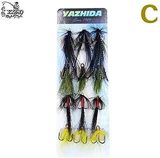 Fishing Treble Hooks VMC Feathered Fly Tying Lure size1# 2# 10 pcs.