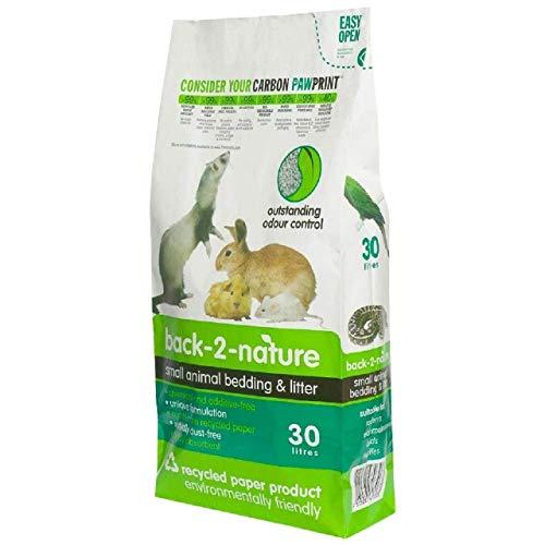 back-2-nature FibreCycle Lecho Papel Higienico Ecologico – Pellets para Cobayas Conejos Hurones Reptiles Pájaros 30000 ml