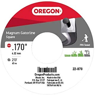 Oregon 22-870 Heavy-Duty Professional Magnum Gatorline Square String Trimmer Line .170-Inch Diameter 3-Pound Spool