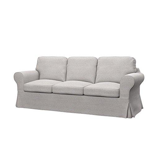 Soferia Bezug fur IKEA EKTORP PIXBO 3er-Bettsofa, Stoff Classic Beige