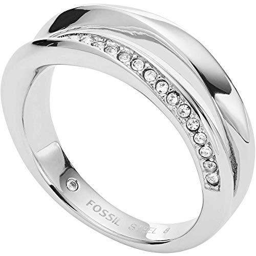 Fossil Damen-Ringe Edelstahl zirkonia '- Ringgröße 53 JF03019040-6.5