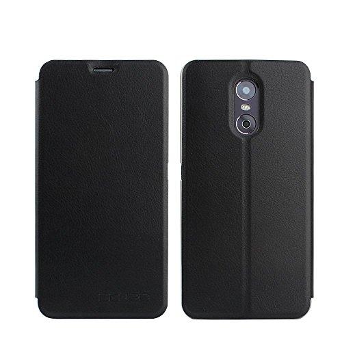 Tasche für Ulefone Gemini Hülle, Ycloud PU Ledertasche Metal Smartphone Flip Cover Hülle Handyhülle mit Stand Function Schwarz